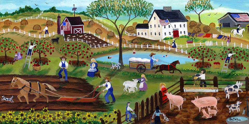 Old Time Americana Country Farmyard