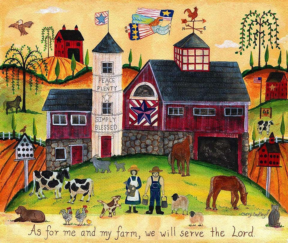 We will Serve the Lord Farmyard Angels Americana