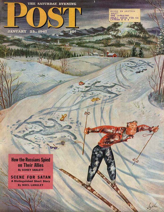 1947-01-25 Snow Skier After the Falls