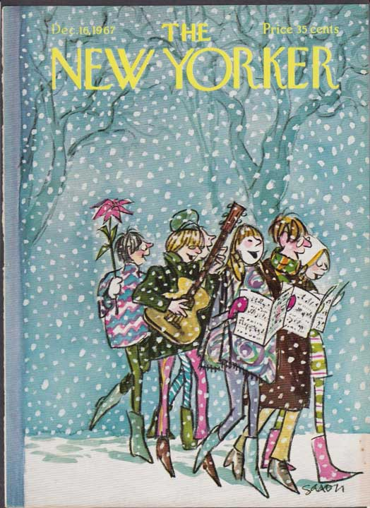The New Yorker - 16 décembre 1967 - Carolers in the snow