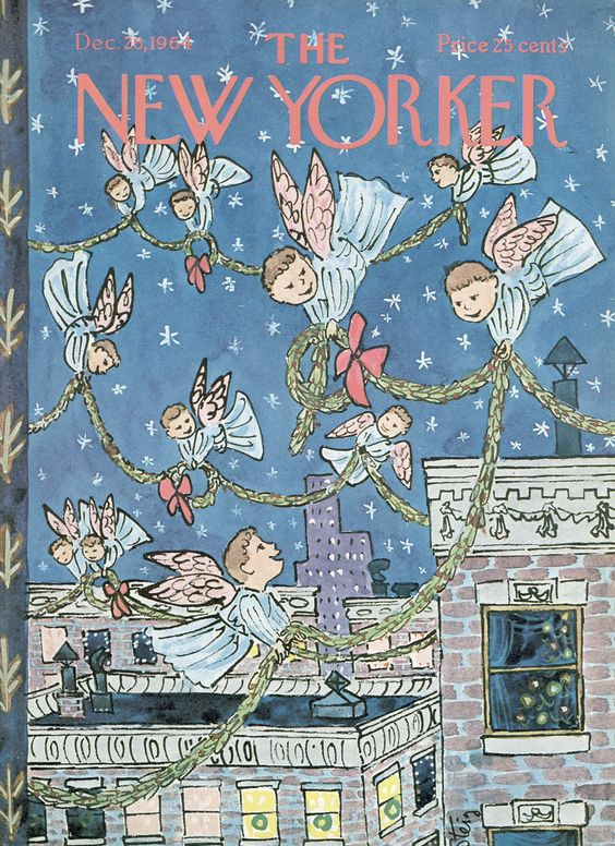 The New Yorker - 26 décembre 1964 - Angels draping garland on the city as they fly above it
