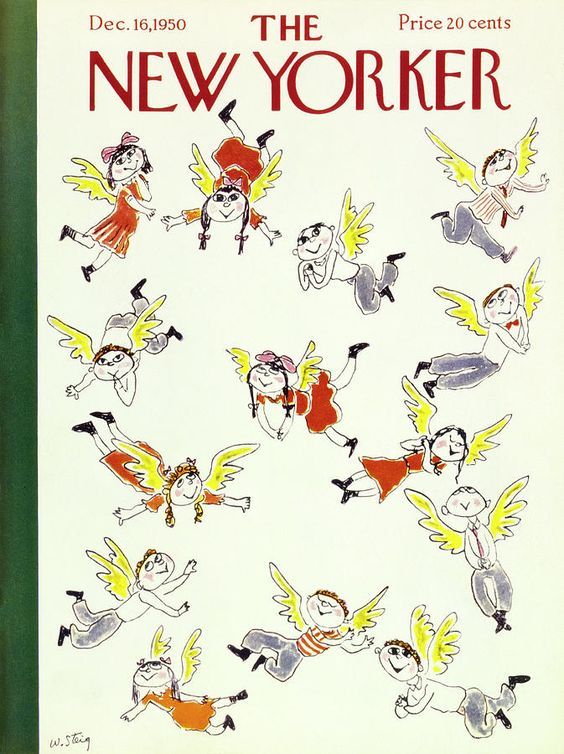 The New Yorker - 16 décembre 1950 - Happy angelic, children with wings