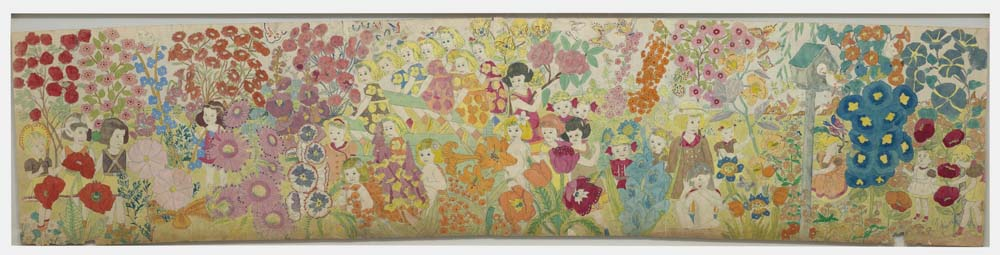Henry Darger, Overall Flowers 61X274,3 cm