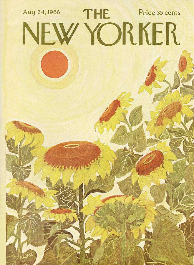 Couverture The New Yorker - Sunflowers